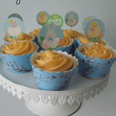Mes Easter-Cupcakes a l'Abricot