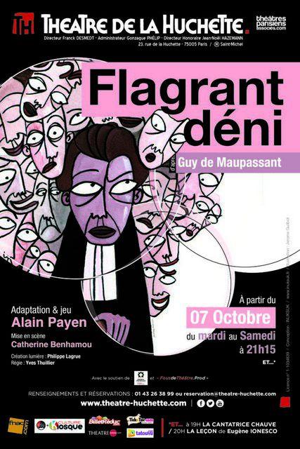 FLAGRANT DÉNI au Théâtre de la Huchette