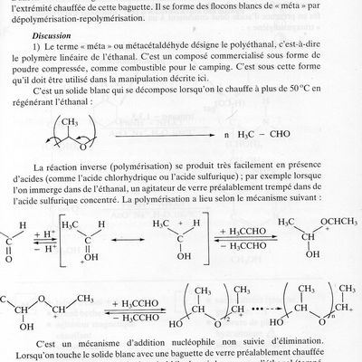 "Classification -84- Le métacétaldéhyde ou ""méta"""