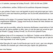 #USA : Message de Sidney #Powell - MOINS de BIENS PLUS de LIENS