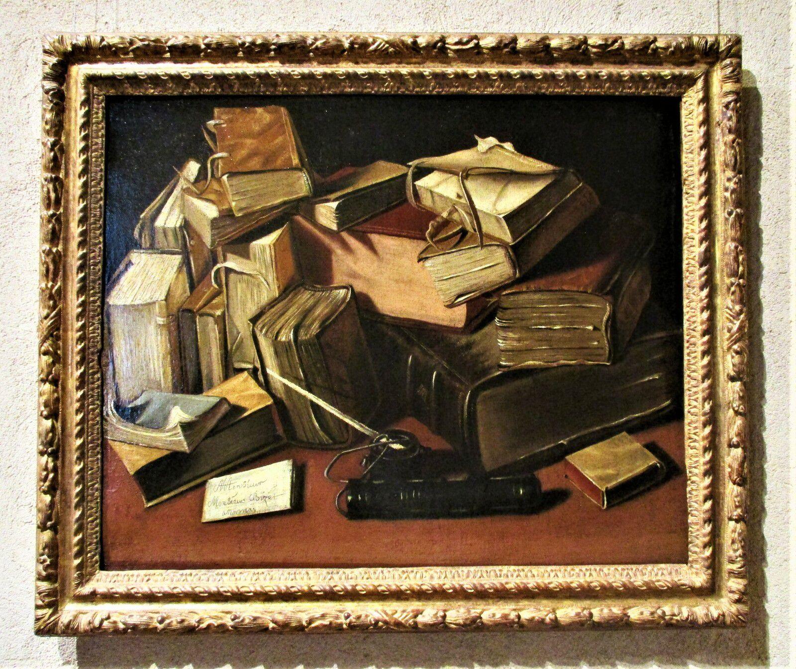 Nature morte aux vieux livres - Jacques Bizet, vers 1650