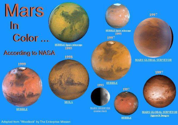 Les vraies couleurs de Mars,