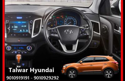Hyundai New Creta now with Tilt steering available for early delivery at Talwar Hyundai.