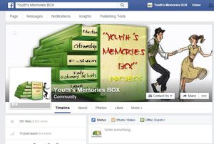 """""""Youth's Memories Box"""" project - Facebook Page"""