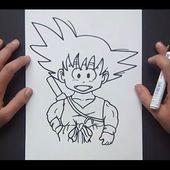 Como dibujar a Goku paso a paso 2 - Dragon ball   How to draw goku 2 - Dragon ball