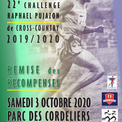 RÉCOMPENSES CHALLENGE CROSS Raphael PUJAZON 2020