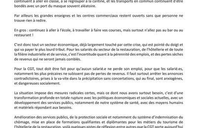 CGT Alpes-Maritimes - COVID 19 : des mesures incohérentes et dangereuses socialement