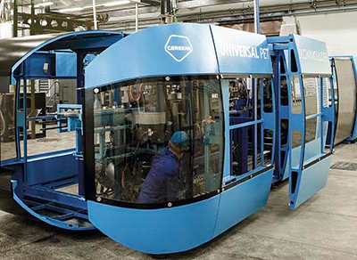 Stretch blow molding units to debut at Pack Expo