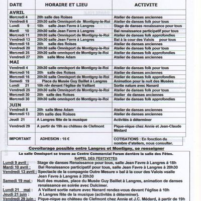 calendrier 3ème trimestre 2017 - 2018