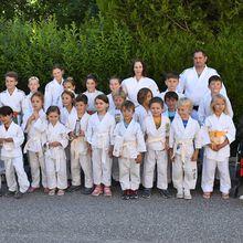 Colmars les Alpes, Judo remise des ceintures