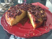 Gâteau aux cerises façon Tatin