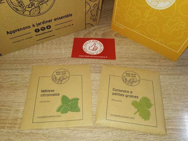 découverte box de jardinage Mon Petit Coin Vert @ Tests et Bons Plans