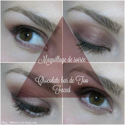 Make up de soirée avec la Chocolate Bar #Too Faced