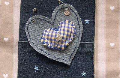 Une carte St Valentin toute en jean !