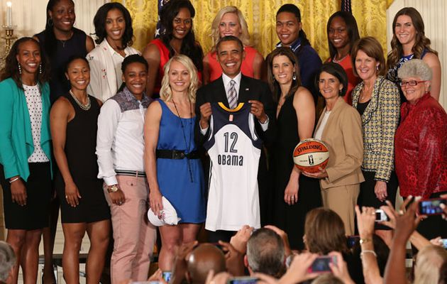 2012 WNBA Champion Indiana Visit the White House