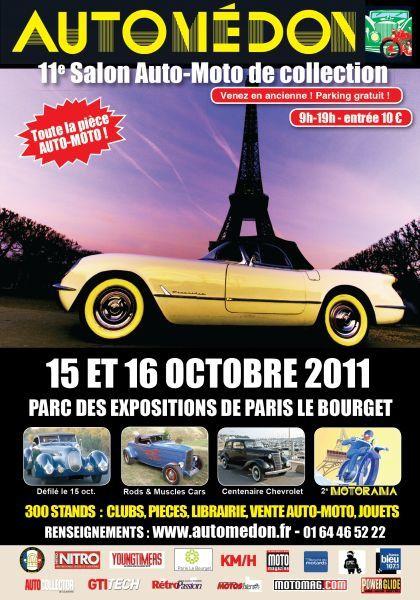 AUTOMEDON-2011 Exposition autos motos anciennes Le Bourget 15/16 octobre 2011