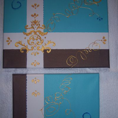 toile turquoise choco or (suite)