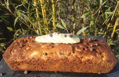 Cake à la banane et aux pépites de chocolat sucré au sirop d'agave