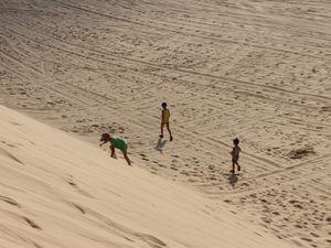 J'ai fait de la luge sur du sable !