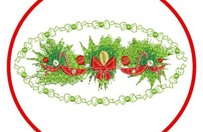 BRODERIE DECORATION NOEL