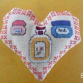 Cœur Valentin, Flacons de salle de bains : face A - Chez Mamigoz