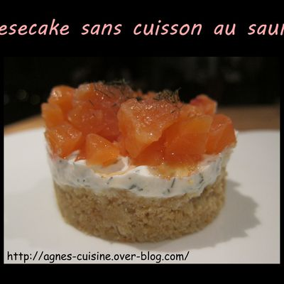 Cheesecake sans cuisson au saumon