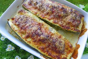 GRATIN DE COURGETTES FARCIES (thermomix)