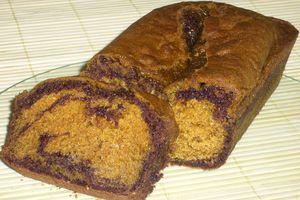 Cake marbré chocolat / pistache