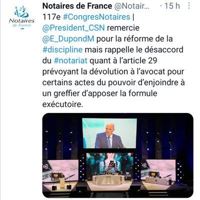 """FORCE EXÉCUTOIRE DE L'ACTE D'AVOCATS : le président du CSN désapprouve l'article 29 du projet de loi """"confiance dans l'institution judiciaire"""", vu comme """"une entorse douloureuse à notre système de droit"""""""