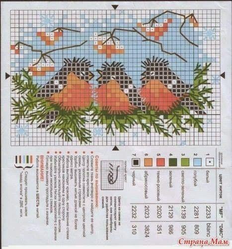 Pères-Noël, sapin, grilles scandinaves, oiseaux, paysage de neige et petites grilles...Joyeux Noël !