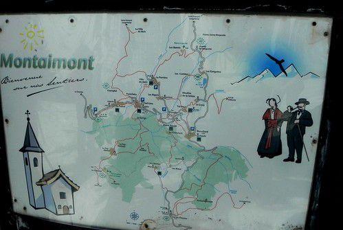Randonnée raquettes avec l'ADAPAR à Montaimont le 24 février 2012