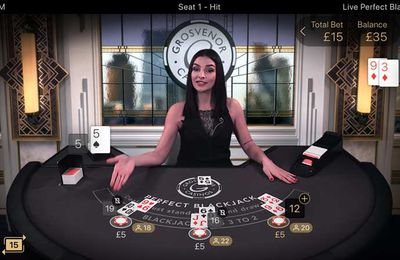 Le Live Perfect Blackjack du développeur NetEnt