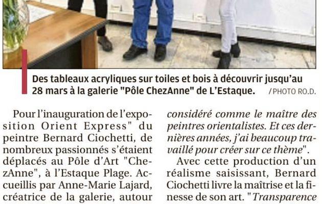 Bernard Ciochetti expose «Orient Express» au Pôle ChezAnne