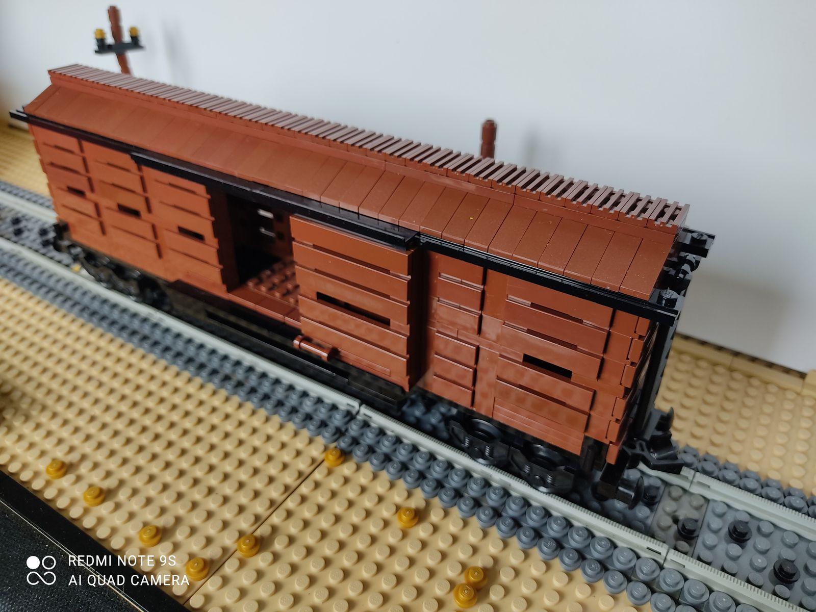 Wagon Américain de marchandises type bétaillère