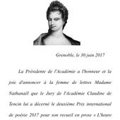 Le Prix international de poésie de l'Académie Claudine de Tencin - Le Pan poétique des muses