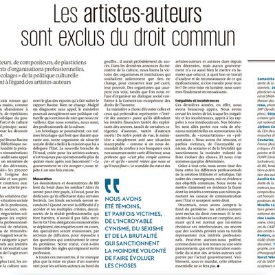 Les artistes-auteurs exclus du droit commun