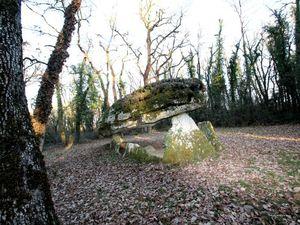 Le dolmen de la Pierre Pèse170110©Michel Hénot photos le 170110 photos 1 et 2, photos 3 et 4 le 170126, photos 5 et 6 le 170127.