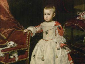 L'Infant Felipe Prospero - 1659, huile sur toile 128,5x99,5cm - Vienne et Sainte Rufine - 1617 huile sur bois 35x28,5cm collection particulière
