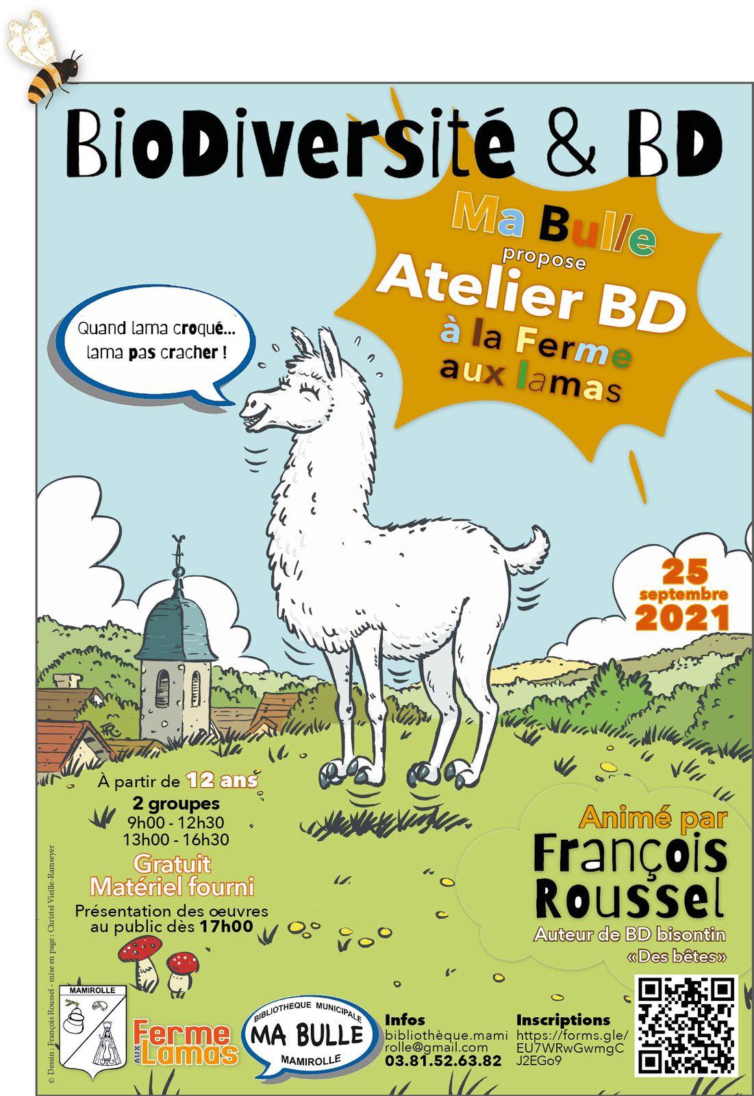 Atelier BD : Ma bulle aux pays des lamas 🖍  🗯  😉