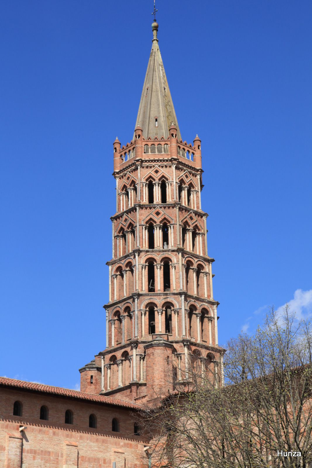 Toulouse, clocher de la basilique Saint-Sernin