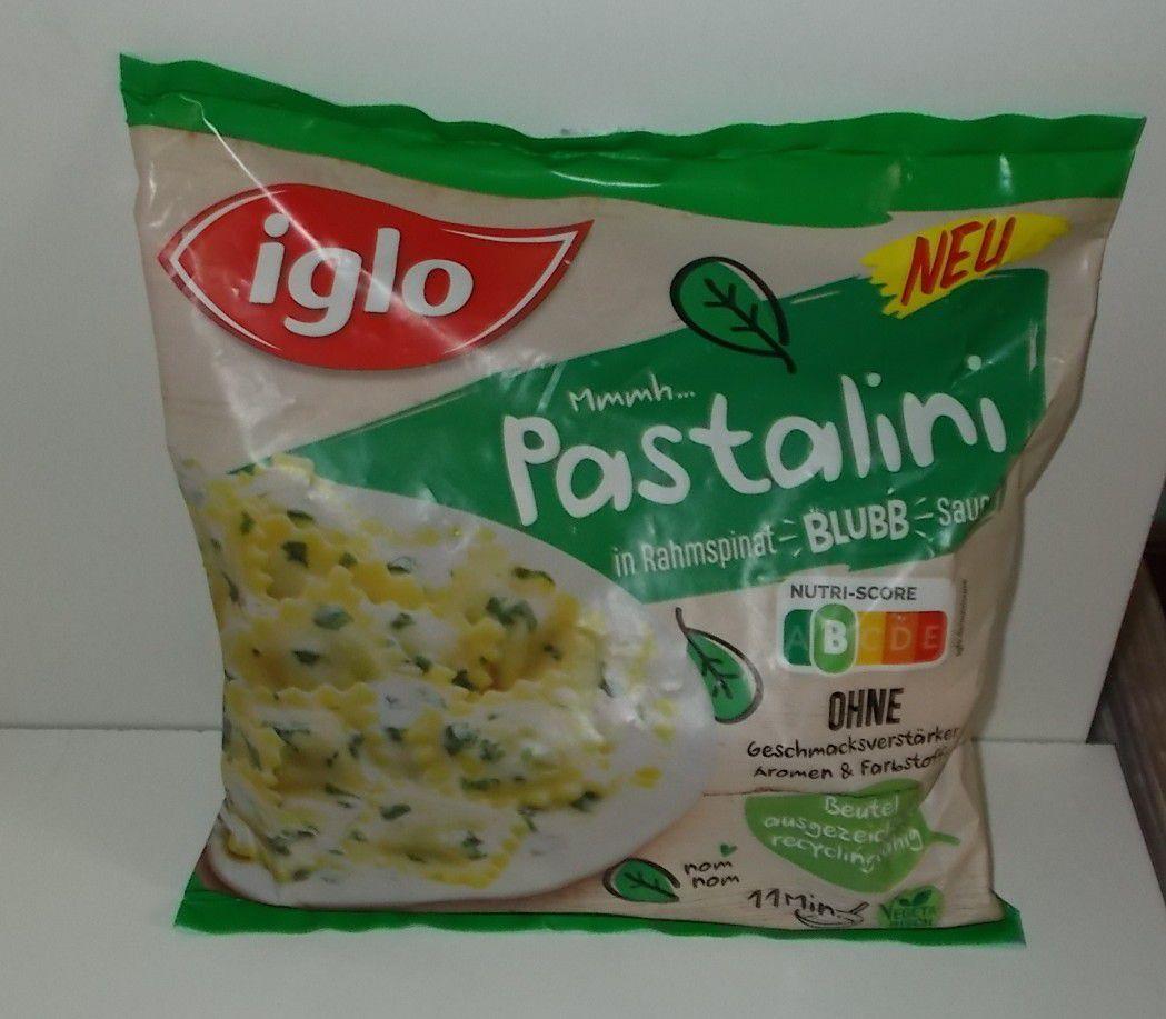 iglo Pastalini in Rahmspinat Blubb Sauce