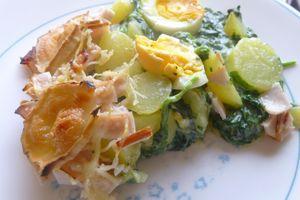 épinards à la florentine en plat complet