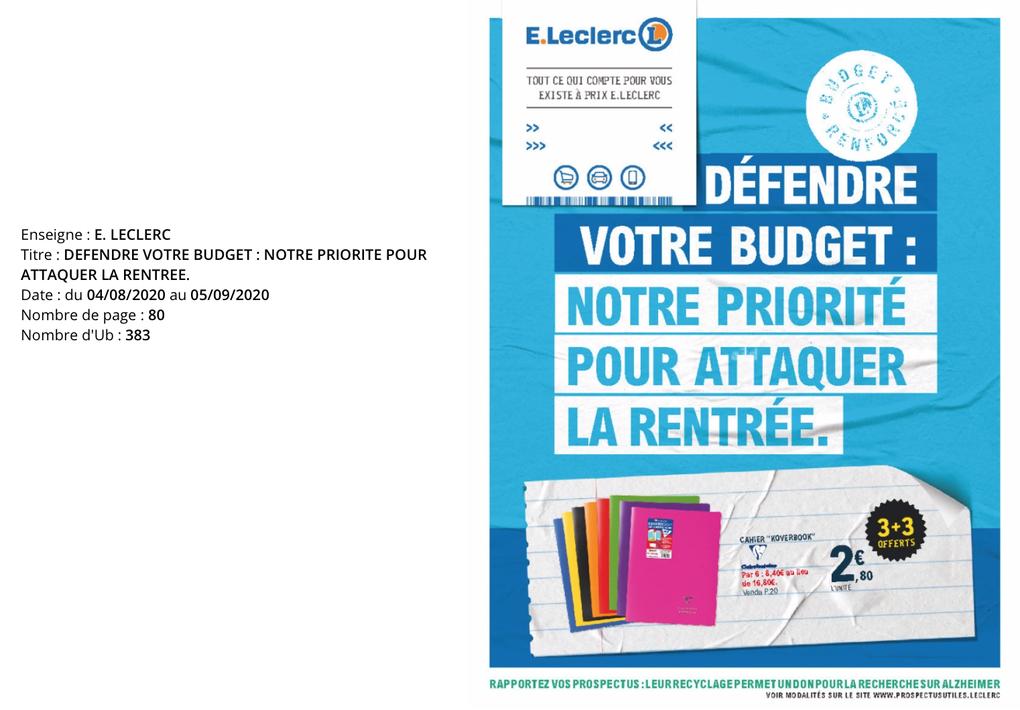 L'Hebdo, semaine du 05 au 09 août 2020