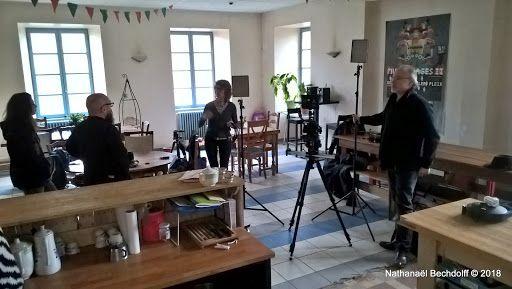 Le tournage du film de présentation pour le projet de jardin botanique +Les Jardins de Chanabier avec...