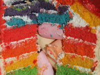 Rainbow cake Peppa Pig