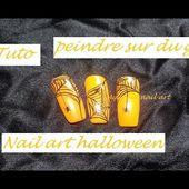 Tuto comment peindre sur du gel + Nail art halloween