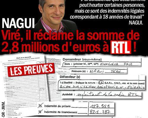 Nagui : viré, il réclame 2,8 millions d'euros à RTL !