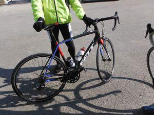 Avant le départ ; le vélo de Jean-Paul.