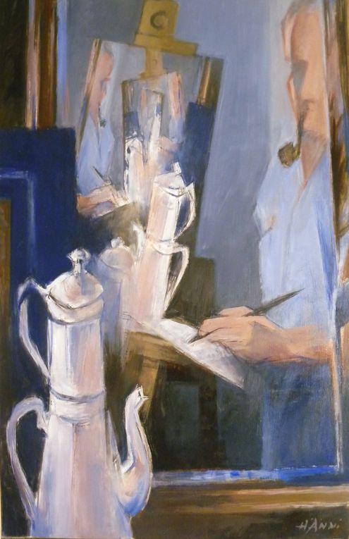 Dessins et huiles du peintre Hänni
