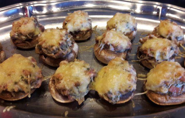 Champignons farcis (Peut s' adapter pour les végétariens)